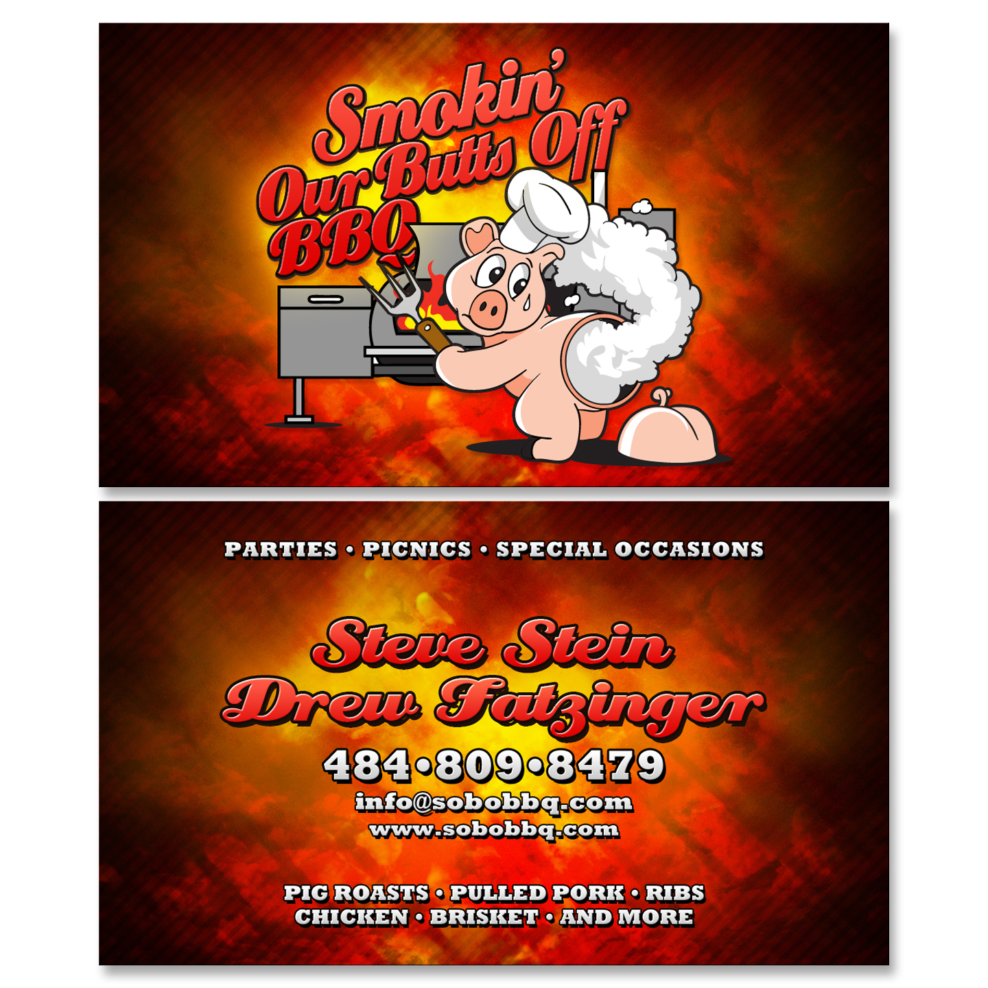 Bbq catering business cards choice image card design and for Bbq catering business cards